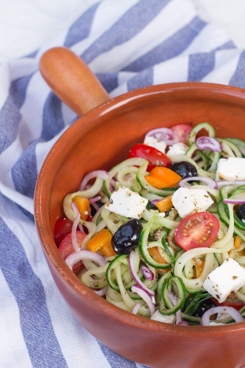 Gespiraliseerde Griekse salade