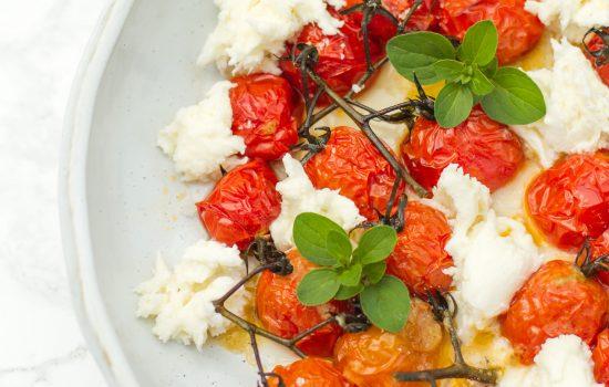 Gegrilde tomaten met mozarella