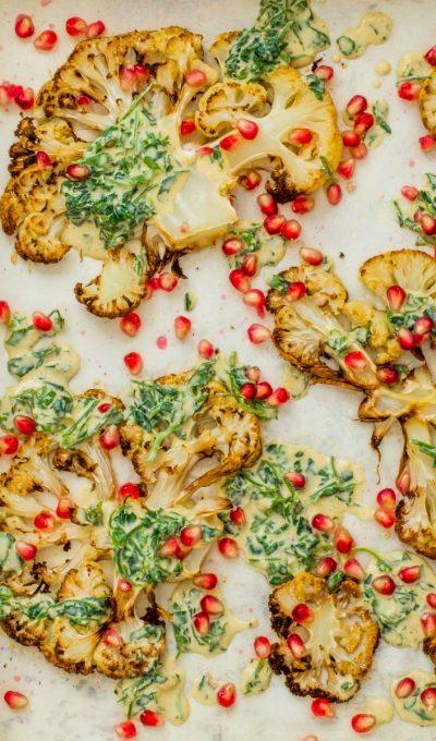 Geroosterde bloemkool met tahinisaus